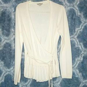 Ann Taylor Loft knitted wrap cardigan size L